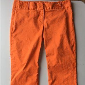 j. CREW Orange City Fit Chino stretch Capri pants